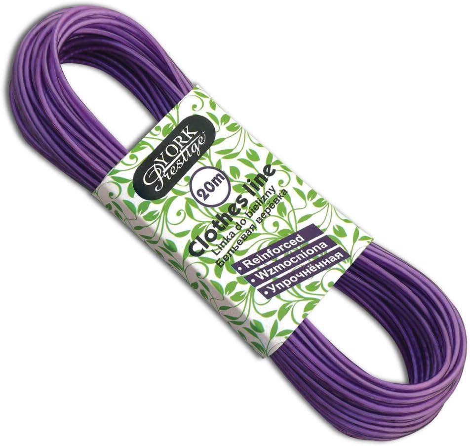 Taille Unique York Prestige Corde /à Linge Violette PVC Acier