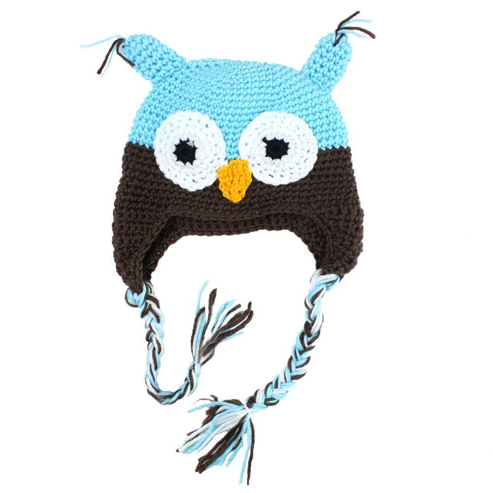Owl Beanie Knitted Hat - For Baby & Toddler - Lovely and Cute - Multiple Colors (1#) E-Map Baby caps