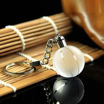 aab49a20690056 Pinzhi Kugel Kristallkugel 3D Gravierte Schlüsselanhänger Ring  Schlüsselanhänger LED LED-Leuchten Anhänger Geschenk(Basketball