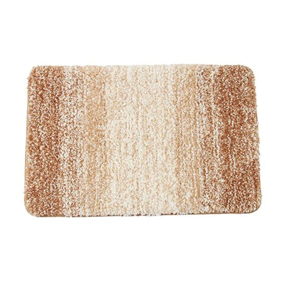 Bathroom Mat,Famibay Non Slip Bath Mat and Rug for Bathroom Microfiber Super Soft and Absorbent Bathroom Rug Machine Washable 20x32 inch, Tan - HIGH-DENSITY MICROFIBER--The surface of the bath rug is made of high-density microfiber, soft touch to make your feet relaxed. High-density ultra-fine fibers absorb water instantly. UNIQUE FIBER-LOCKING TECHNOLOGY--Our factory has focused on bath mat for 20 years,Unique Fiber-Locking Technology made the bath mat easy to care,you can washing or drying it in the machine directly,no need to worry about losing cashmere. ENVIRONMENTAL FRIENDLY FABRIC--To be free of chemicals and naturally dyed with no color shading or fading. - bathroom-linens, bathroom, bath-mats - 61XU2rTxJWL. SS570  -