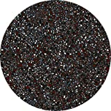 Terrazzo Dark - Absorbent Stone Coasters for Drinks 4 inch Set of 4 - Large Modern Round Natural Ceramic Water Absorb Spill Coaster with Non-slip Cork Backing for Mugs and Cups