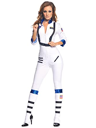 bd0199269ac Sexy White Space Costume Womens Astronaut Costume 3 Piece Jumpsuit Set Sizes   Medium