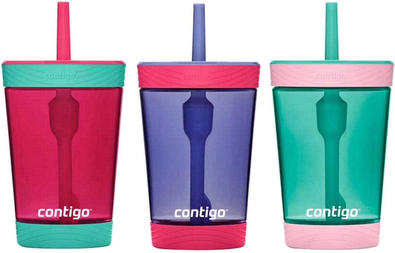 Contigo Kids 3 Pack Tumblers Pink//Purple//Aqua