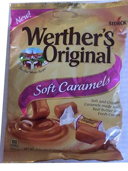 Amazon.com : Werthers Original Caramels Soft Chews, Apple, Coffee, Caramel Filled, Dulce Del Leche 1 Each Pack : Grocery & Gourmet Food