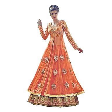 JN Bollywood Anarkali Salwar-Anzug Braut Hochzeitskleid Langes Kleid ...