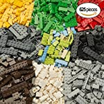 Brickland Bulk Construction Building Blocks For boys and Girls 6 Year Old Kids Toy Set Creative Educational Interlocking Brick Block Playset Kit (625 Pieces)