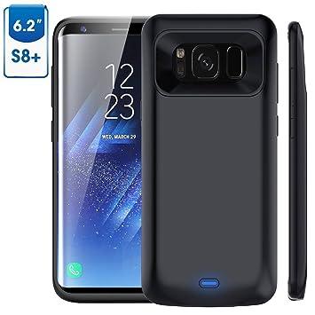 Bovon Funda Bateria Samsung Galaxy S8 Plus, 5500mAh Bateria Externa Recargable Power Bank, Cargador Portatil Protector Estuche de Carga para Samsung ...