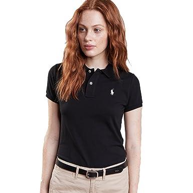 Ralph Lauren - Polo Para Mujer Skinny Fit (XS, Negro): Amazon.es ...