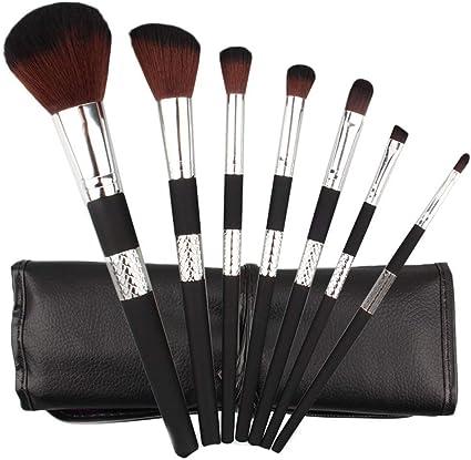 7pcs Cosmetic Makeup Brush Blusher Eye Shadow Brushes Set Kit With Brush Bag brochas maquillaje brocha maquillaje: Amazon.es: Belleza