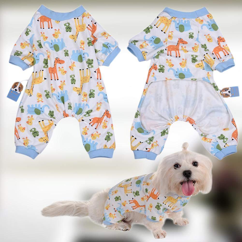 IrahdBowen Pigiami per Cani Vestiti per Cani Cani Tutina Pigiami per Cani Morbidi Pagliaccetti per Cuccioli di Cotone Tute per Animali Domestici Tute accoglienti per Cani di Piccola Taglia e workable