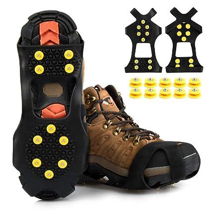 Schuhspikes Schuhkrallen Ice Klampen Schnee Spikes Steigeisen Eiskrallen Anti Rutsch zum Laufen Wandern auf Schnee und EIS Joggen Klettern