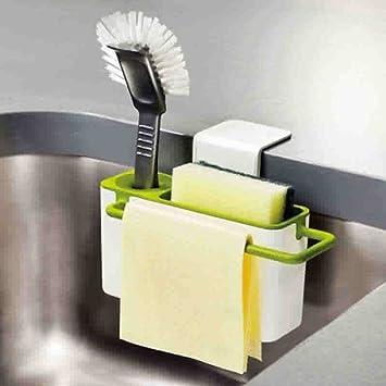 YSTD® Suction Cup Base Kitchen Brush Sponge Sink Draining Towel Rack  Washing Holder