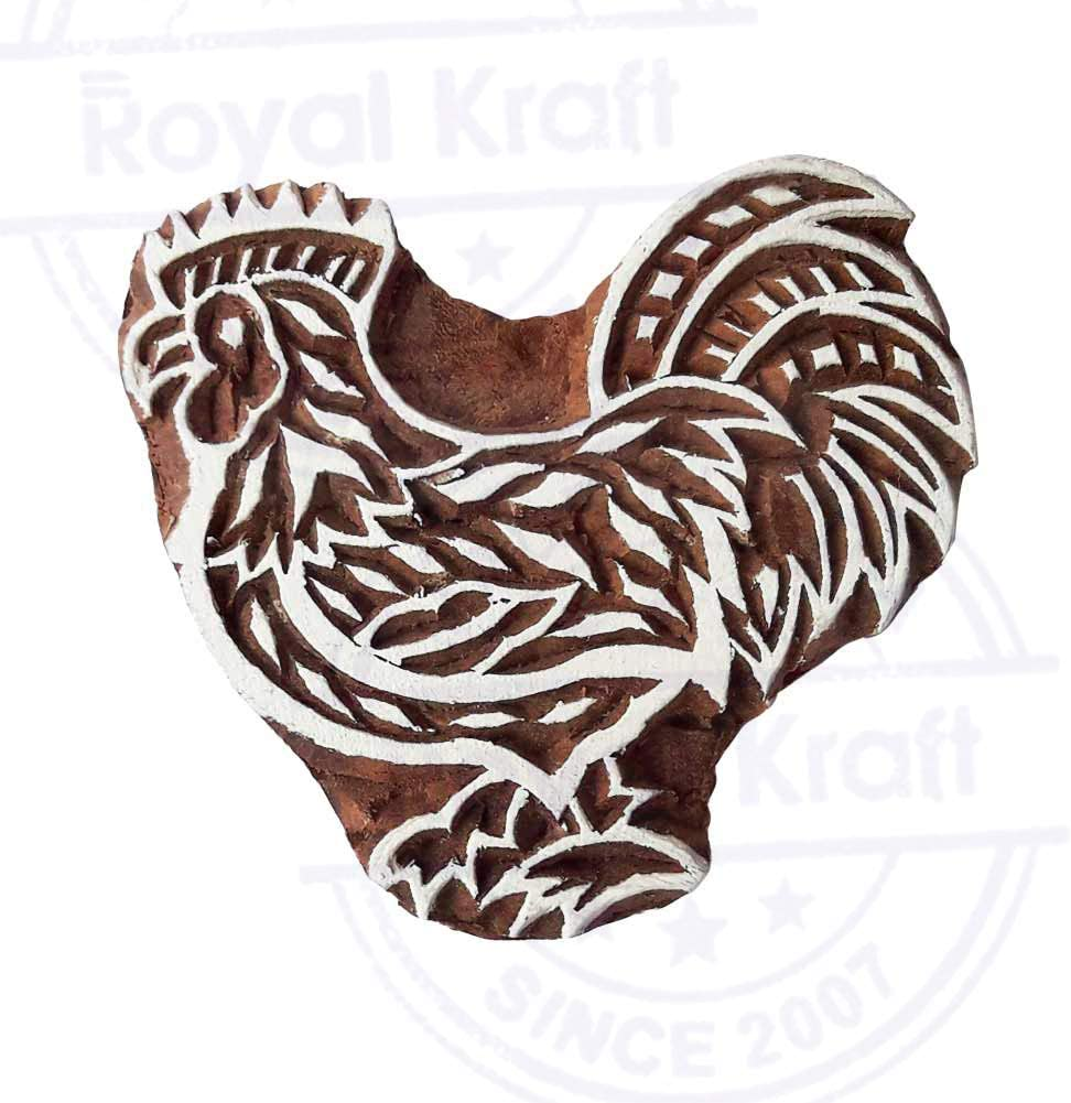 Traditional Lion Animal Pattern Wood Print Textile Stamp DIY Henna Fabric Textile Paper Clay Pottery Block Printing Stamp
