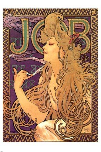 vintage Job Poster Alphonse Mucha Print