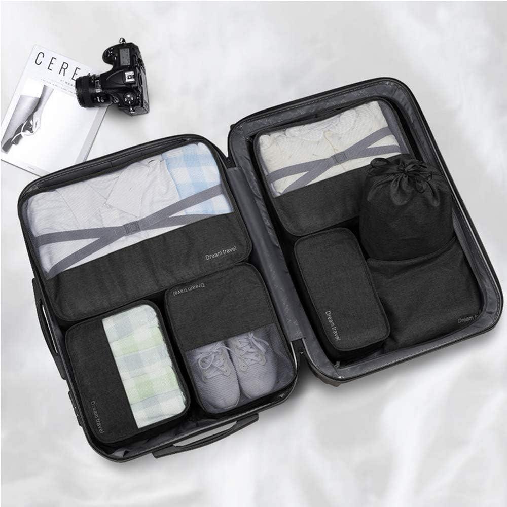 1 Sac pour Chaussures Set 7 Cubes pour Emballage -3 Cubes pour Emballage 1 enveloppe pour sous-v/êtements 2 enveloppes