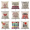 FORUU Throw Pillowcase, Happy Valentines Pillow Case Coverss Linen Sofa Cushion Home Decor Pillow Case Covers
