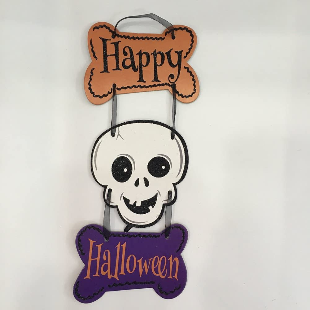 22CM Dylandy Halloween Door Decoration Witch Hat Hanging Sign Tag Happy Halloween Hanging Decorations Props Festival Pendant For Home Wall Door Window 30