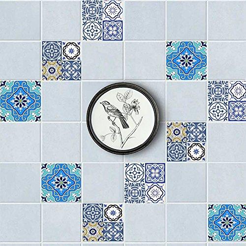 Etiquetas engomadas del azulejo del estilo europeo 3D Jane Europa papel pintado decorativo DIY pegatinas de pared gratis...