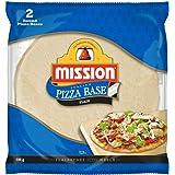 """Mission Foods 9"""" Round Plain Pizza Base 2 Pieces,"""