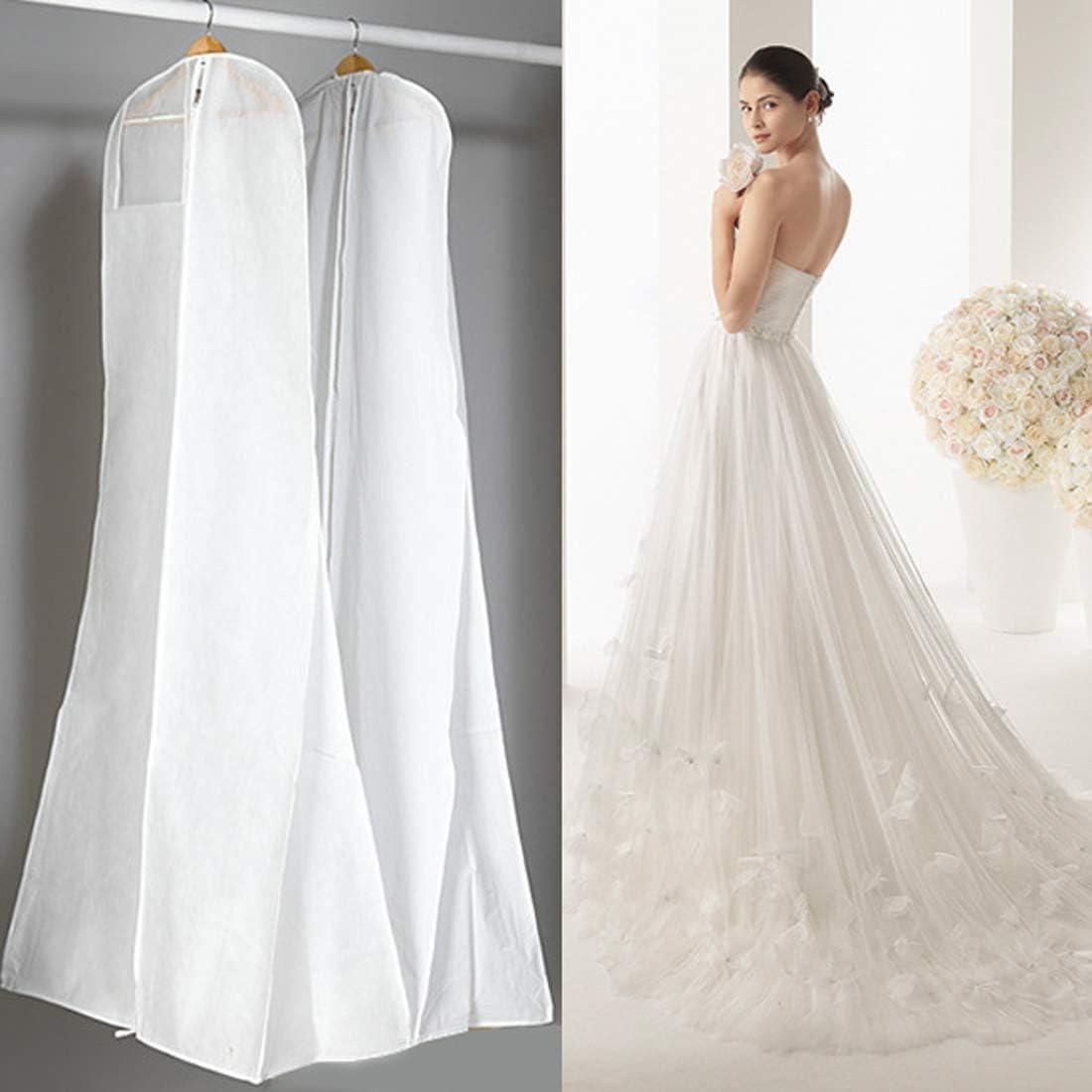 Gabkey Vestido de novia cubierta – transpirable tela no tejida ...