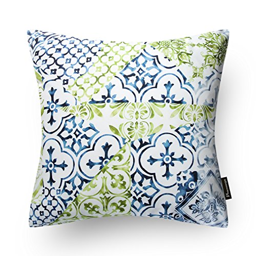 Nice Phantoscope New Living Blueu0026Green Decorative Throw Pillow Case Set Of 4 ...  (1, Neo Retro BG)