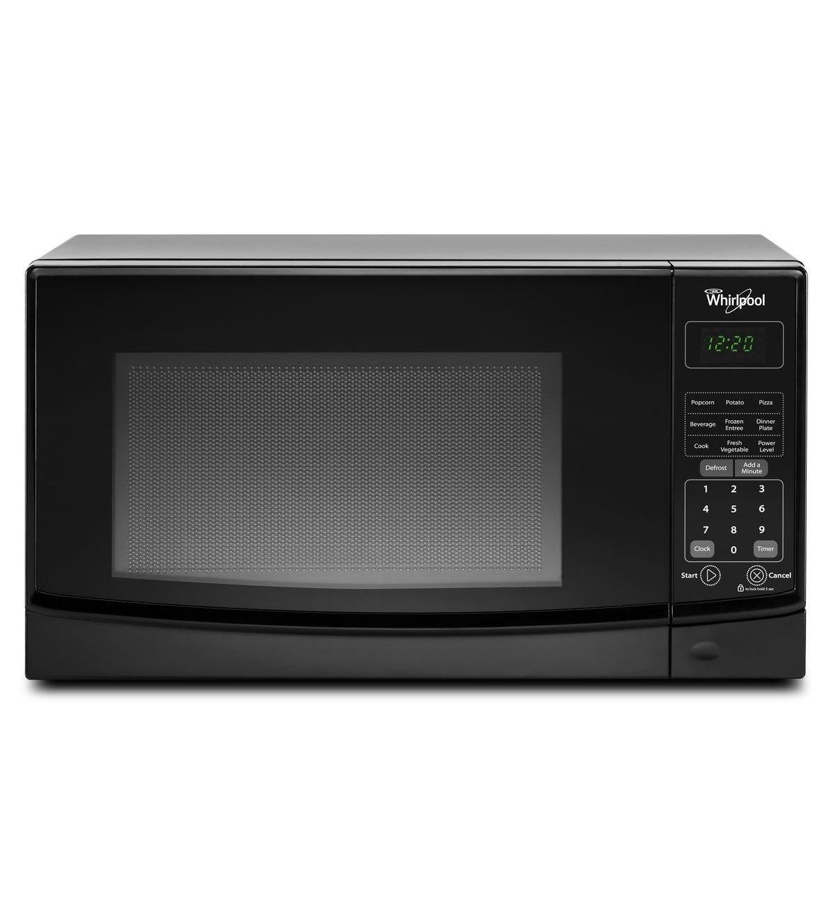 Whirlpool WMC10007AB 0.7 Cu. Ft. Black Countertop Microwave