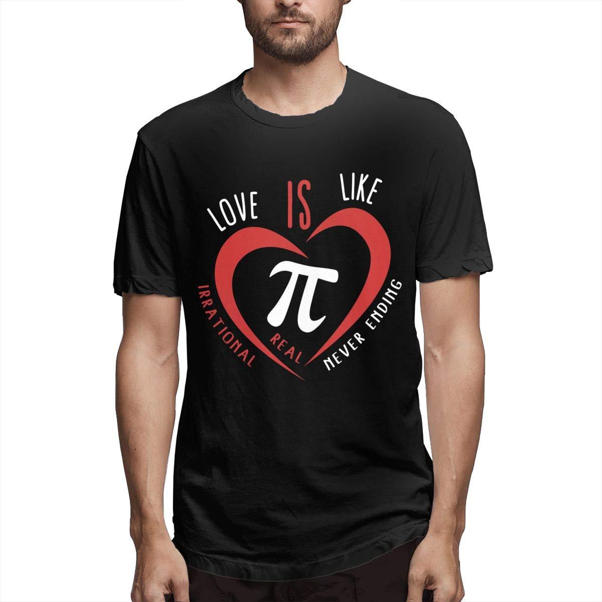Love Is Like Pi Irrational Real Never Ending Fashion S Tshirt
