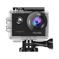 MGCOOL Action Cam 4K / 30fps Fotocamera Sport d'Azione Wifi Sony 16MP Full HD 1080P Impermeabile 30M ,170° Grandangolare, 2.0 Pollici LCD, Una 1050mAh Batteries e 8 Accessori per Ciclismo Nuoto e altri Sport Esterni - Nero