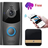 Wireless Video Doorbell, Innotic Free Cloud Storage Smart Doorbell with Chime, 720P HD WiFi Security Camera, Two-Way Talk, PI