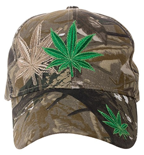 Artisan Owl Pot Leaf Cannibis Weed Cap - 100% Cotton Embroidered Hat (Leaf Hat Weed)
