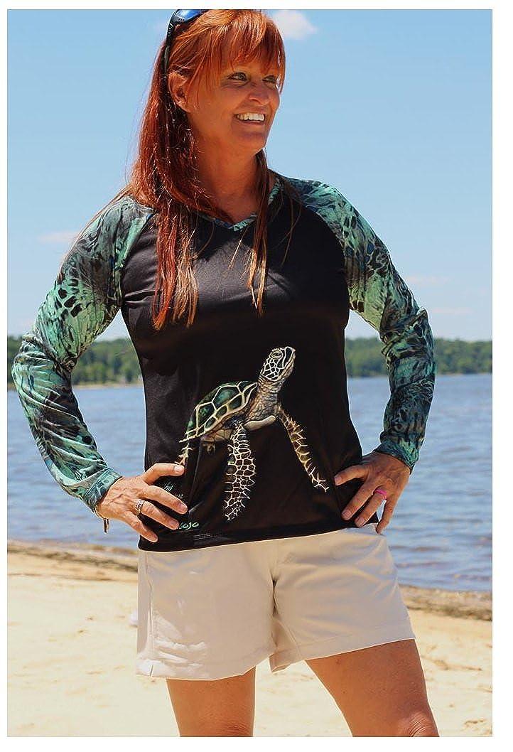 Mojo Sportswear Ladies Caballo De Mar Sea Turtle Performance Shirt