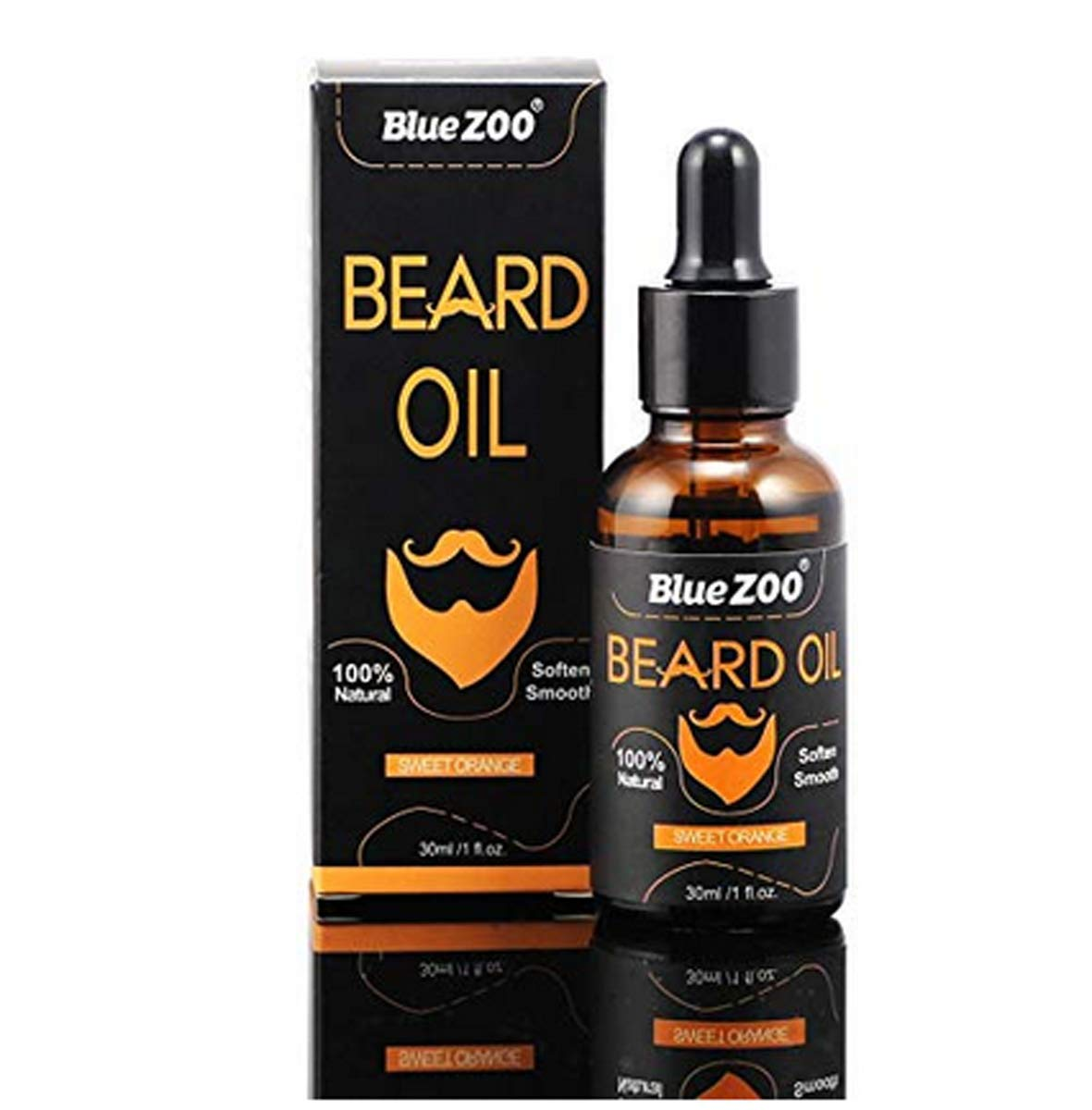 Organic Beard Oil Growth for Groomed Beards for Men's Mustaches For Beard and Mustache Styling, Shaping, Grooming & Growth (30 ML, Fragrance Free) Argan oil