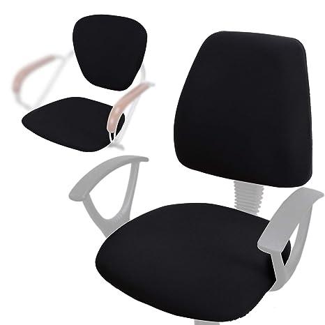 voilamart 2 unidades silla de oficina para, estirable giratoria silla cubre Slipcovers giratorio de almohadillas