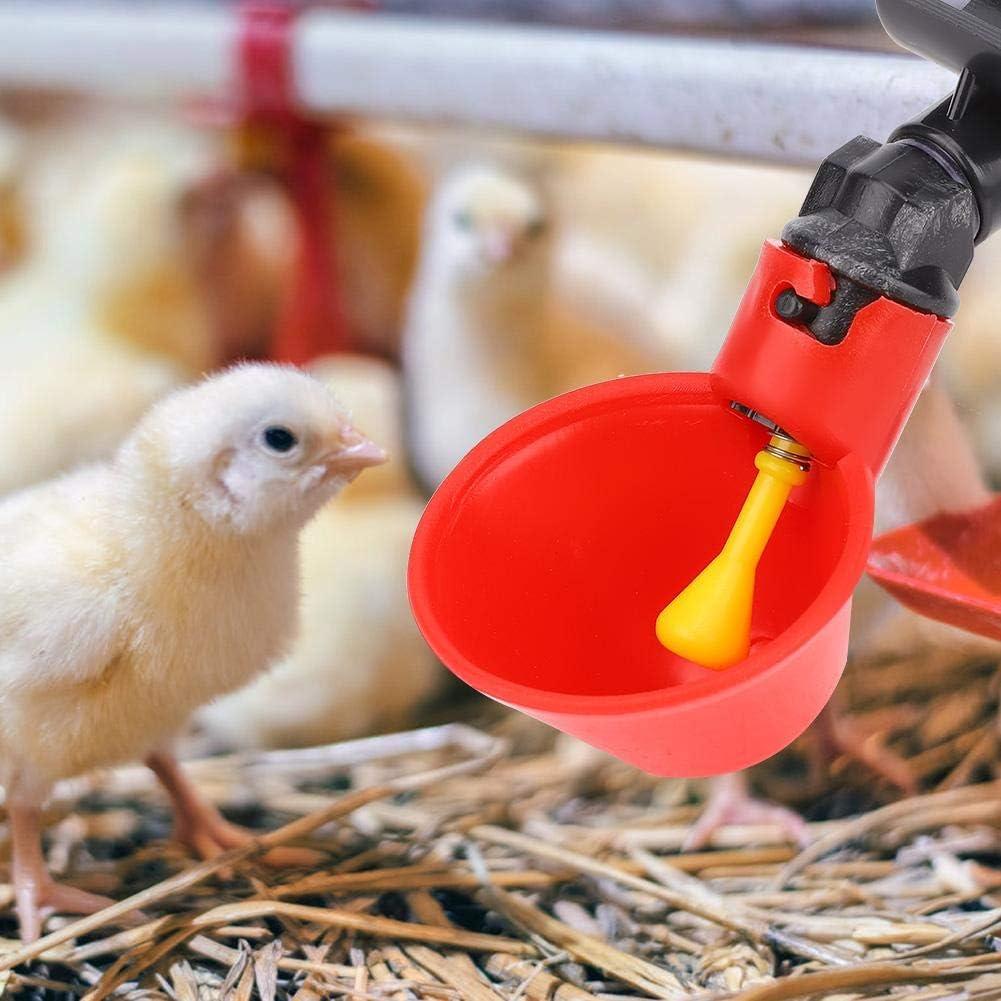 Bicchieri per abbeveratoi Automatici per Pollo 10 Pezzi Bicchieri per abbeveratoi per pollame in plastica Bicchieri per erogatori di Acqua Potabile Ciotole per Uccelli Anatra Quaglia Piccione #3