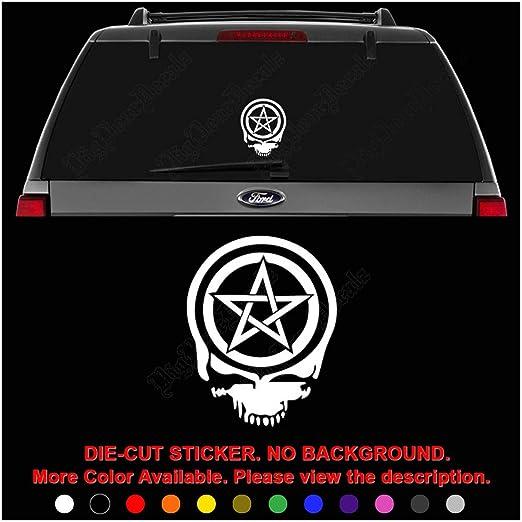 Wiccan Pentagram Symbol Decal Sticker laptop helmet window wall car truck