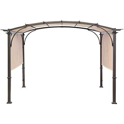 MasterCanopy Universal Doubleton Steel Pergola Replacement Cover ONLY for Pergola Structures L-PG080PST 80''x 205''Beige(Cover only) : Garden & Outdoor