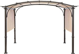 MASTERCANOPY Universal Doubleton Steel Pergola Replacement Cover for Pergola Structures L-PG080PST, 80''x 205'', Beige (Cover only)