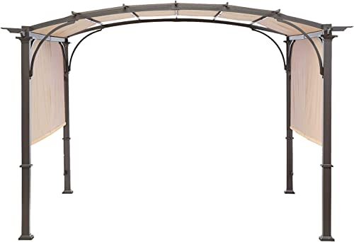 MASTERCANOPY Universal Doubleton Steel Pergola Replacement Cover ONLY for Pergola Structures L-PG080PST 80 x 205 Beige Cover only