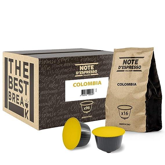 Note DEspresso - Cápsulas de café de Colombia compatibles con cafeteras Dolce Gusto, 7 g (caja de 96 unidades)