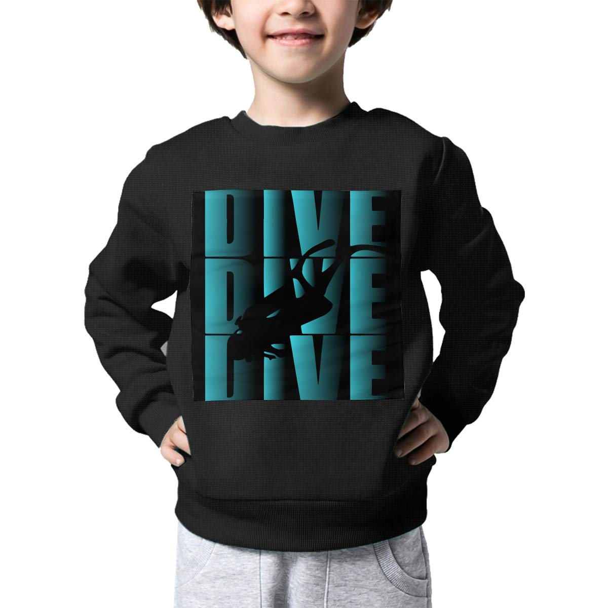 NJKM5MJ Boys Girls Dive Scuba Diving Lovely Sweaters Soft Warm Unisex Children Kids Sweater