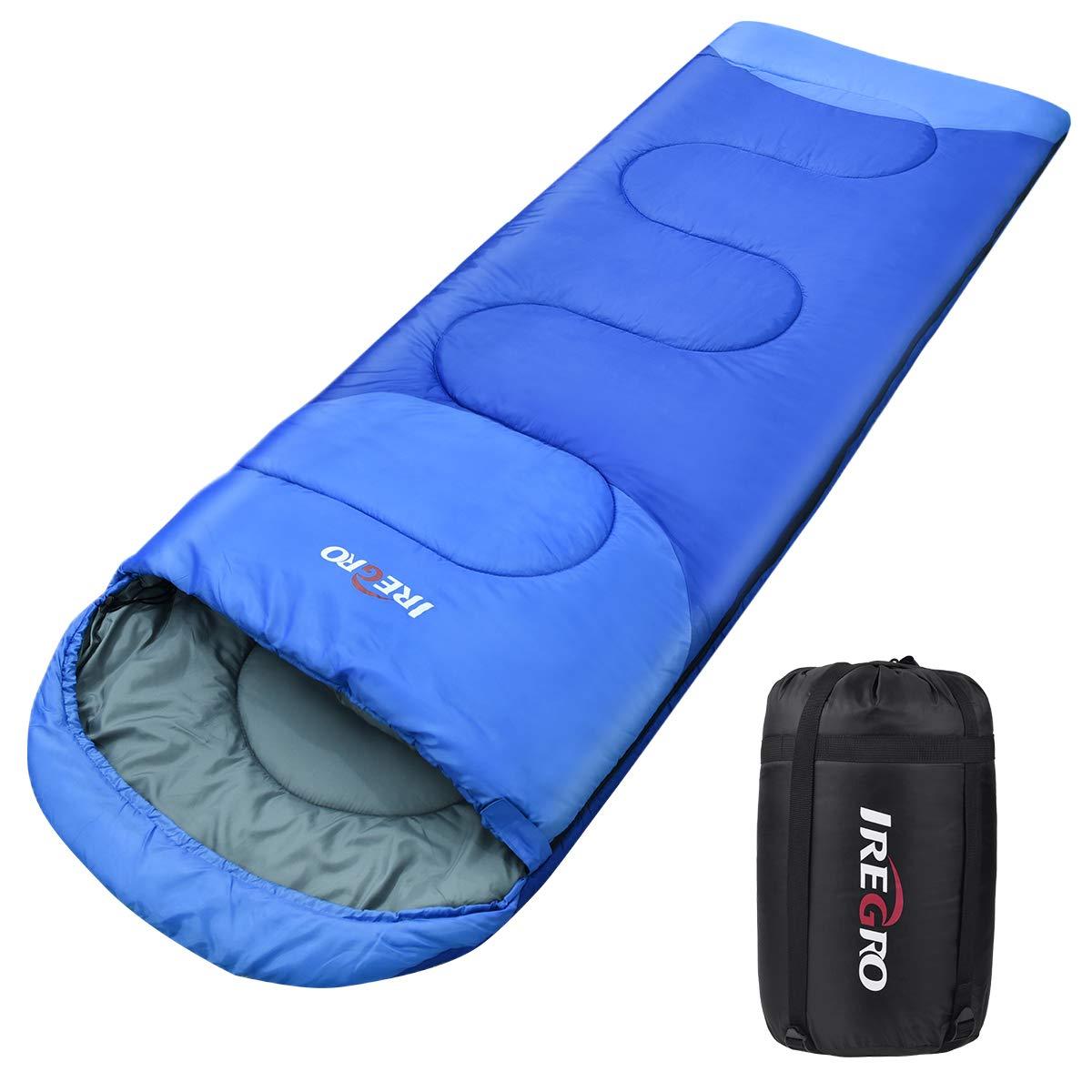 para Viajes Camping 3 Estaciones 5~25℃ BACKTURE Saco de Dormir para Acampar Impermeable con Bolsa de Compresi/ón Senderismo 220x80cm