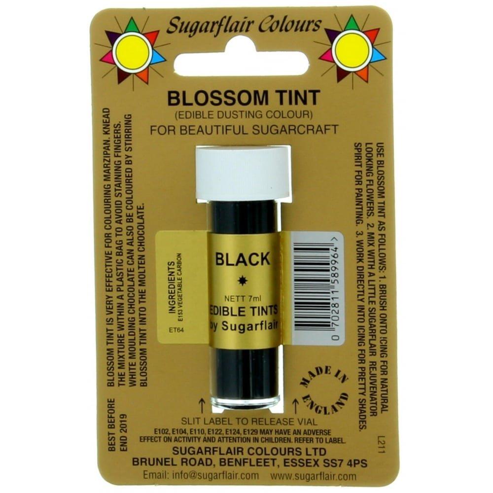 Sugarflair Blossom Tint Dusting Colours, Black