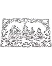Metall Silber Dekoration Luo-401XX Stanzschablone f/ür Karten Basteln Scrapbooking Fotoalbum
