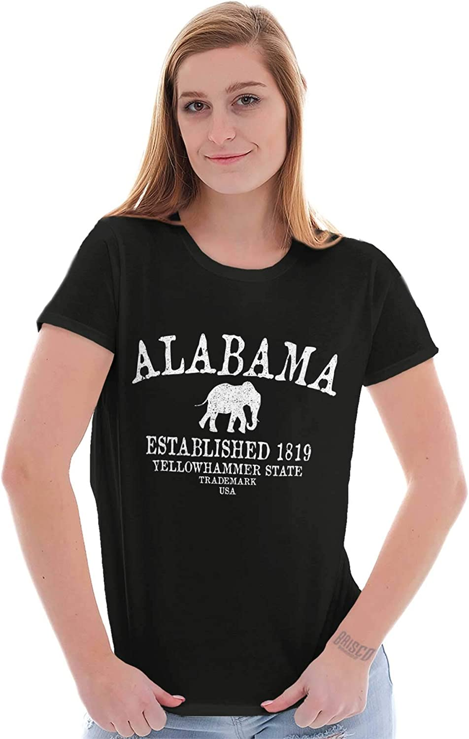 Classic Teaze Alabama Souvenir Tourist Sport Gym Workout Ladies T Shirt 617YYI8H7ZL