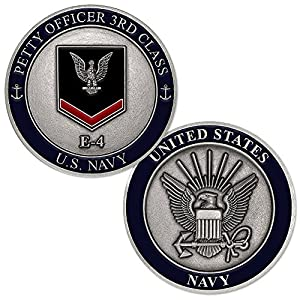 U.S. Navy Petty Officer Third Class E-4 Challenge Coin from Armed Forces Depot