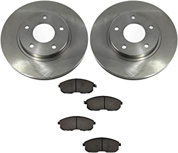 Front And Rear OE Brake Calipers /& Rotors /& Pads For Infiniti I30 Nissan Maxima
