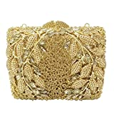 Socialite Hollow Out Flower Appliques Women Crystal Evening Wedding Party Handbags 2