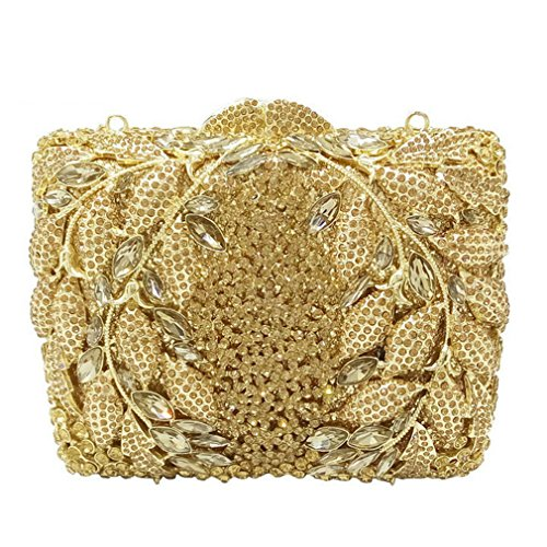 Socialite Hollow Out Flower Appliques Women Crystal Evening Wedding Party Handbags 2 by stbbbss