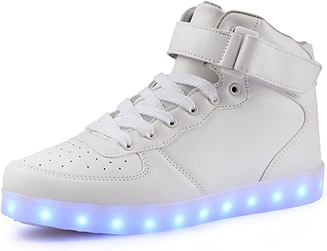 NEW Unisex LED Lights  sneakers Shoes USB CABLE  **US SELLER*** white