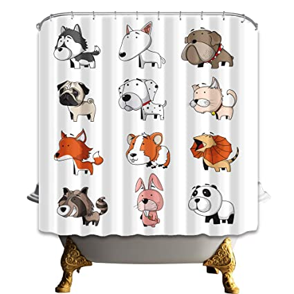 Shuhui Famiglia Di Animali Su Sfondo Bianco Volpe Cane Panda E Lupo